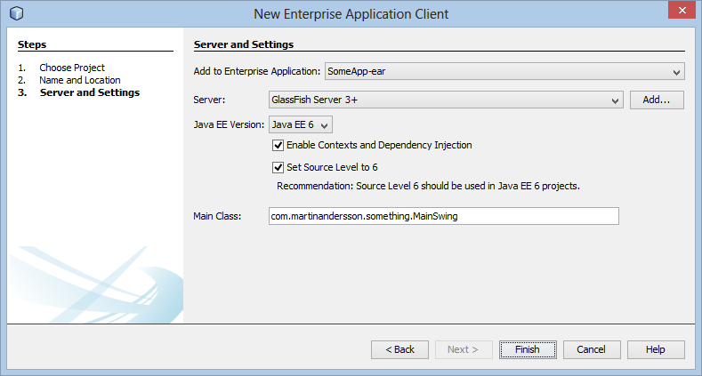 New Application Client - Part III